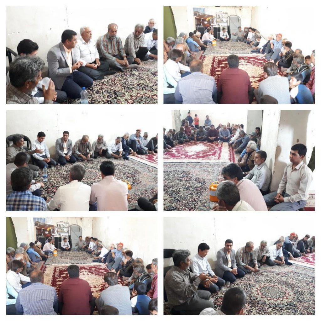 دیدار بخشدار  دهبکری شهرستان بم با مردم منطقه تهرود و ابارق