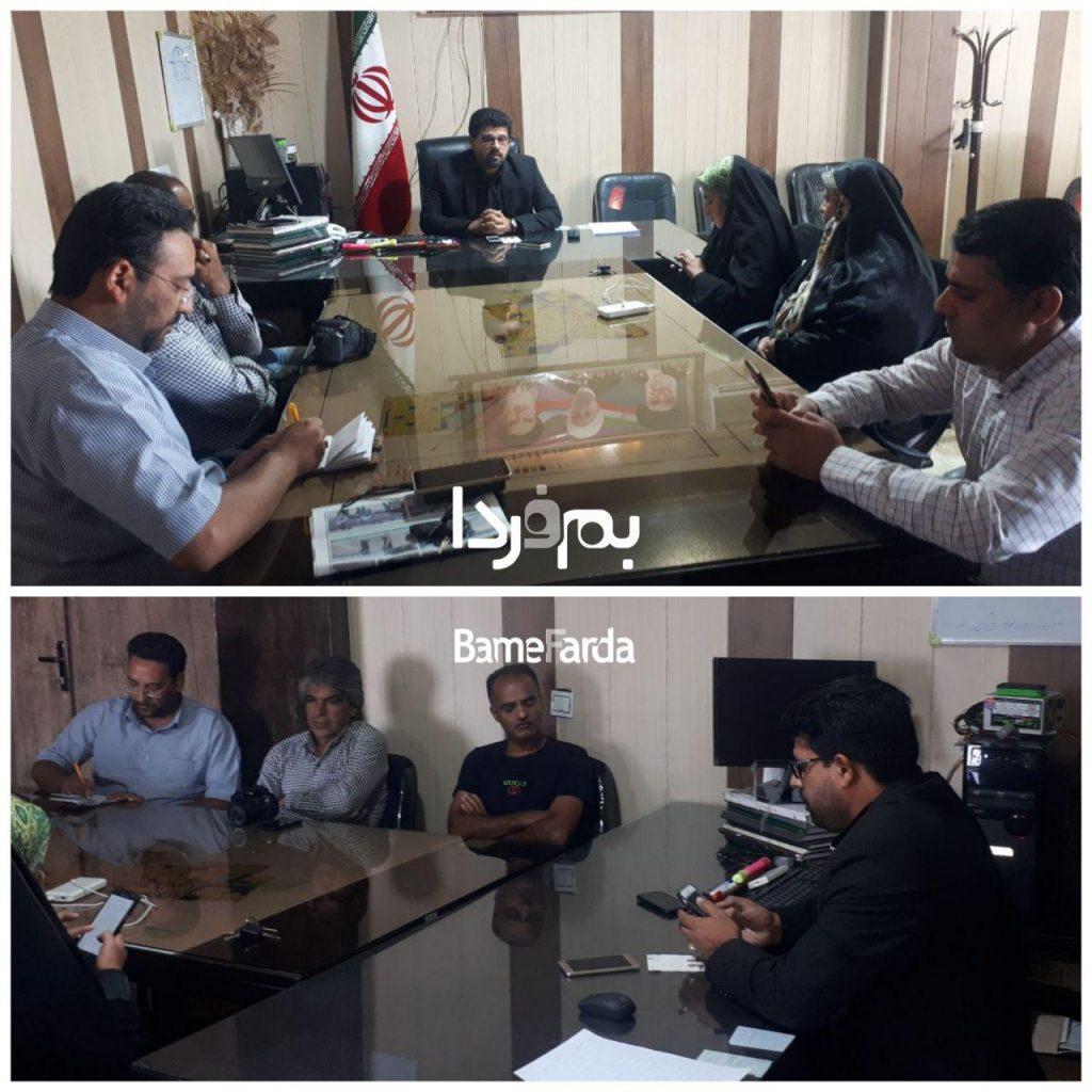 نشست خبری اهالی رسانه با مهندس قائمی شهردار نرماشیر