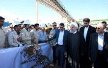 افتتاح کارخانه تولید آهن اسفنجی با حضور رئیس جمهور