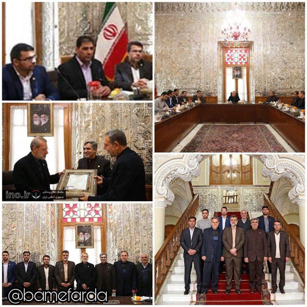 دیدار اعضای هیات رئیسه سازمان نظام پرستاری کشور با رئیس مجلس شورای اسلامی