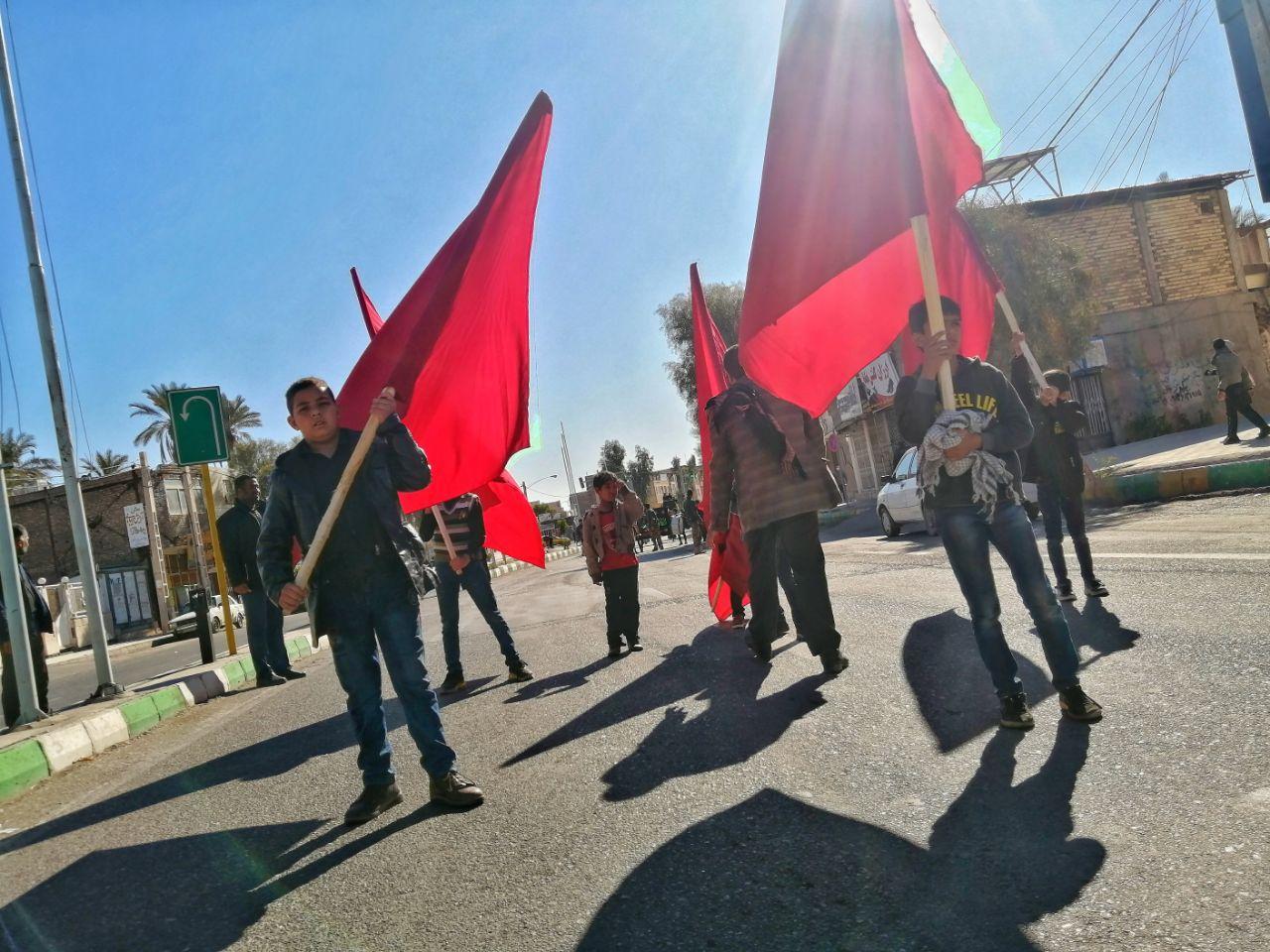 تجمع عزاداران فاطمی بم در میدان امام (ره)